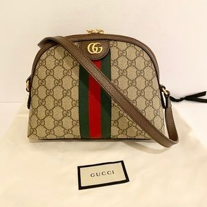 Authentic Gucci 'Ophidia' GG Small Shoulder Bag